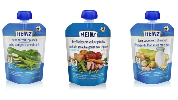 """The Canadian Food Inspection Agency said Sunday that Heinz Canada is recalling six baby food products due to a packaging defect that may allow for the entry of """"spoilage microorganisms."""" (CFIA)  Read more: http://www.ctvnews.ca/health/heinz-canada-recalls-baby-food-due-to-packaging-defect-1.1721784#ixzz2vbF0C9CQ"""