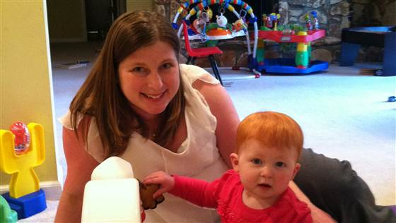 """Courtesy Erin Shetler Erin Shetler with her daughter, after she regained her """"baby weight""""... and her peace of mind."""