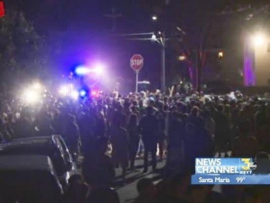 100 arrests when spring bash turns violent
