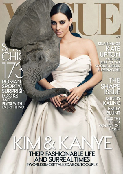 Kim Kardashian attacked by baby elephant in Thailand