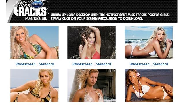 "The 'Girls' tab of the Tracks website features 'Vixen', 'Poster Girl' and ""Miss Bintang' sections. Source: Supplied"