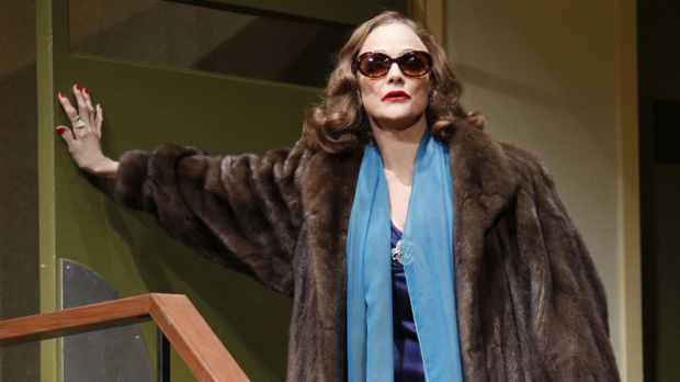 """FILE - In this publicity photo provided by Boneau/Bryan-Brown, Valerie Harper stars as Tallulah Bankhead in Matthew Lombardo's """"Looped,"""" at Broadway's Lyceum Theatre in New York. The playwright of """"Looped"""" claims in a lawsuit that Harper didn't disclose she had cancer until after she signed to star in the play. The suit says the 74-year-old """"Rhoda"""" star knew in 2009 she had lung cancer but """"knowingly withheld the truth."""" The $2 million suit, filed in Manhattan federal court, was a counterclaim to one Harper filed demanding she be paid for the production she left for health reasons."""