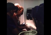 Woman has epic meltdown on plane screaming God my saviour (VIDEO)
