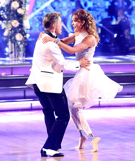 Amy Purdy was injured on Dancing with the Stars. Credit: Adam Taylor/ABC