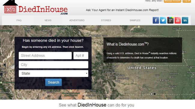 Diedinhouse Ghoulish Website That Tells You If Someone