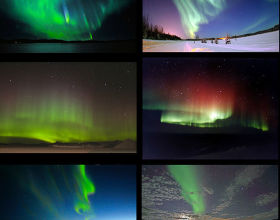 mages of the aurora australis and aurora borealis from around the world, including those with rarer red and blue lights  No description available.