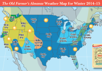Winter is expected to be another cold one in the eastern half to two-thirds of the nation with above-normal temperatures, on average, in the West.