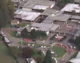 Police respond to high school shooting in Marysville, Wa. at Pilchuck High School