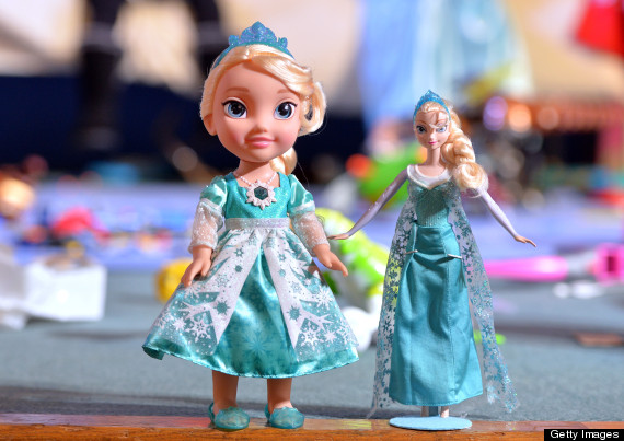 LONDON, ENGLAND - NOVEMBER 05:  Disney Frozen Snow Glow Elsa and Disney Frozen Sparkle Doll are named one of the top 12 Dream Toys at the Dream Toys 2014 Launch on November 5, 2014 in London, England.  (Photo by Anthony Harvey/Getty Images)