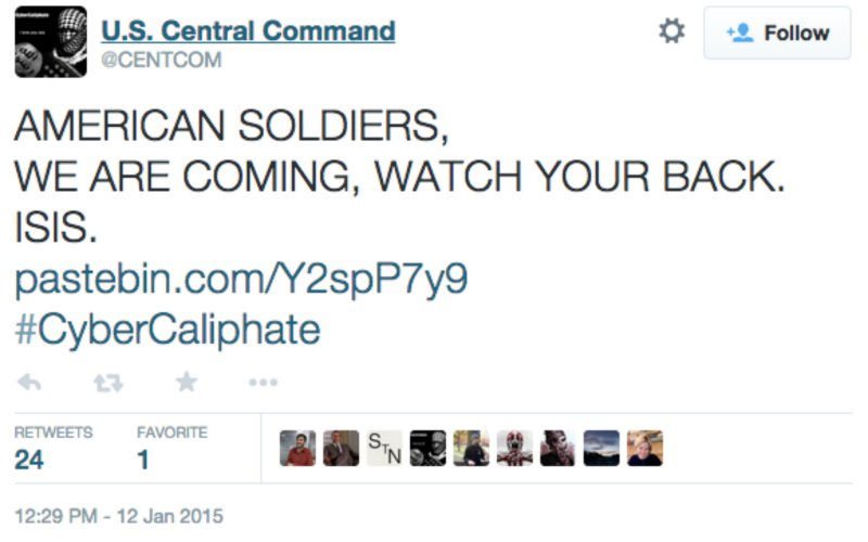 U.S. Central Command Twitter Page Hacked By ISIS