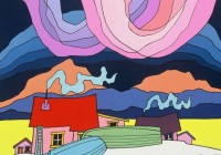 """Hanging Sky,"" a painting by Canadian artist Ted Harrison (Ho/The Canadian Press)"