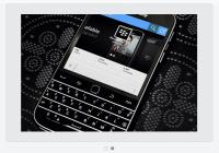 Blackberry Account Tweets Update Using iPHone App