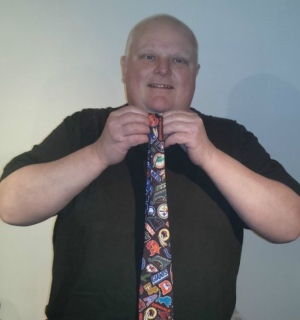 Rob Ford tweeted Wednesday a link to an eBay page where one of his most well-known ties is for sale. (eBay.ca)