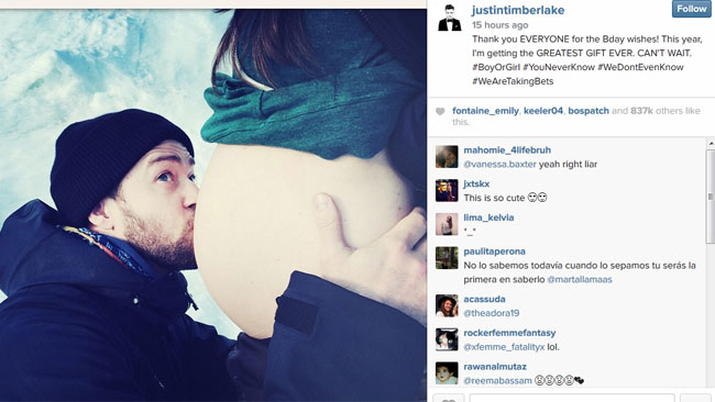 Justin Timberlake And Jessica Biel Announce They're Having A Baby (PHOTO0