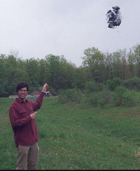 Daniel Bowman launching a NASA student balloon. (Image: geosci.unc.edu)