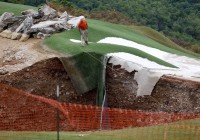 Massive Sinkhole Appears On Golf Course (Photo)