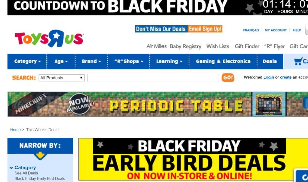 ToysRUs Black Friday Ad Sale Deals BlackFridaycom ToysRUs - R us map