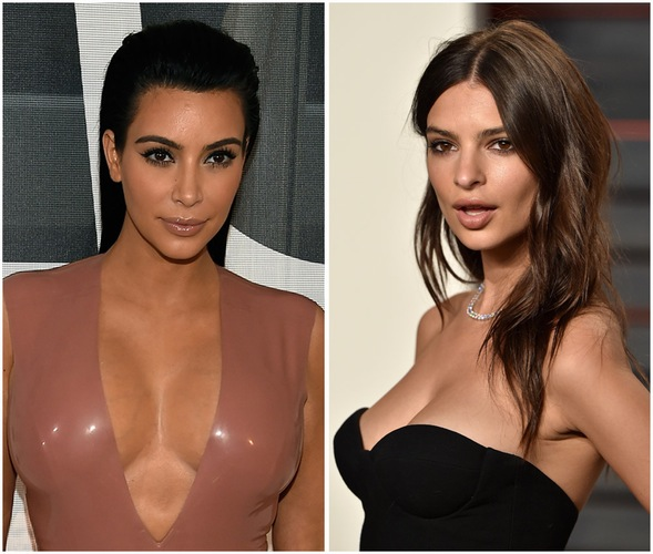 Kim Kardashian posed topless with Emily Ratajkowski On Instagram