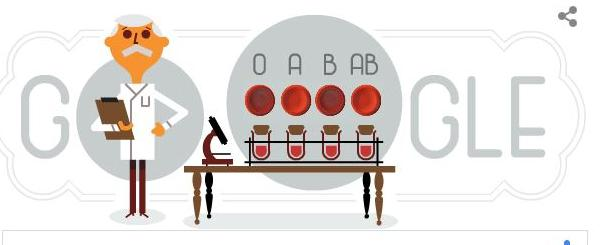 Karl Landsteiner Gets A Google Doodle For World Blood Donor Day