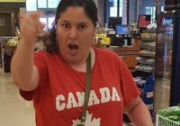 London, Ont., police have arrested this woman after a Muslim woman was allegedly assaulted at a grocery store there. (Photo provided by London Police Service)
