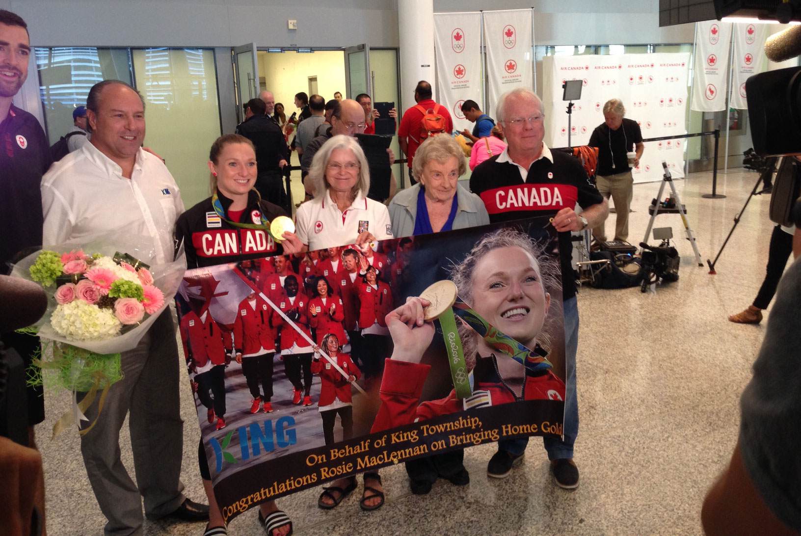 Canadian Athletes Return Home With A Supportive Welcome