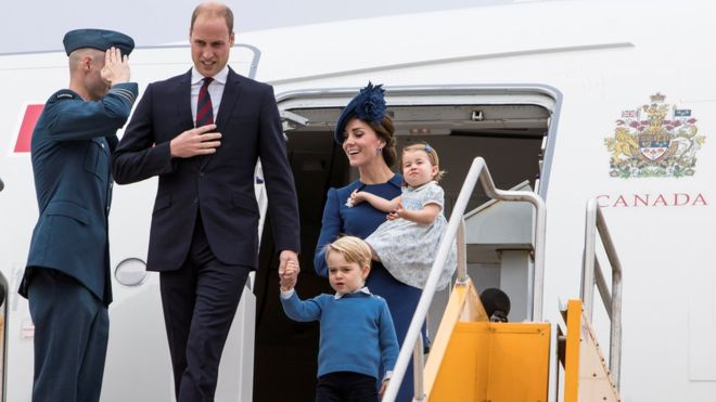 William and Kate Arrive In Victoria For Royal Tour
