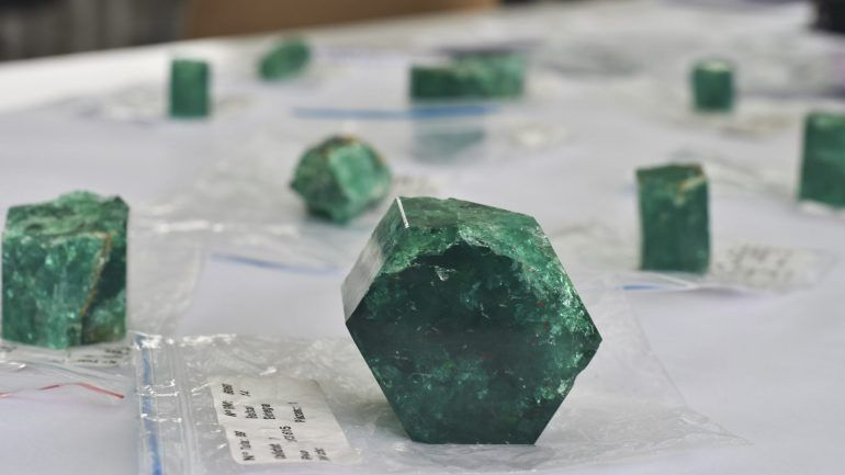Emeralds 400 year old shipwreck