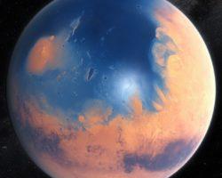 Impact crater Mars tsunamis theory